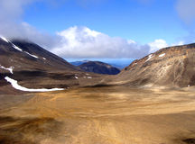 Νότιος κρατήρας, πάρκο Tongariro στοκ φωτογραφίες