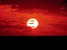 νότιο ηλιοβασίλεμα της Α στοκ εικόνα με δικαίωμα ελεύθερης χρήσης