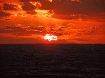 νότιο ηλιοβασίλεμα 2 Αφρική Στοκ Φωτογραφία