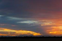 νότιο ηλιοβασίλεμα Καλ&io Στοκ Εικόνες