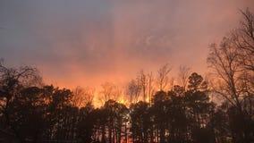 Νότιο θερινό ηλιοβασίλεμα στοκ φωτογραφίες