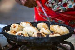Νότιο ινδικό πρόχειρο φαγητό aape, Kolhapur, Maharashtra Στοκ Φωτογραφία