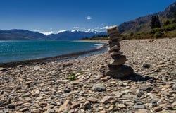 Νότιο νησί Νέα Ζηλανδία λιμνών Wanaka Στοκ εικόνες με δικαίωμα ελεύθερης χρήσης