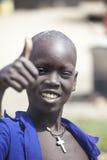 Νότιο σουδανέζικο χριστιανικό αγόρι Στοκ Εικόνες