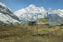 Νότος ΑΜ Annapurna στο Νεπάλ Στοκ φωτογραφίες με δικαίωμα ελεύθερης χρήσης