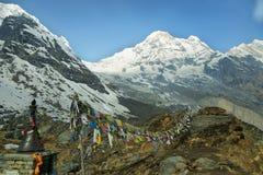 Νότος ΑΜ Annapurna στο Νεπάλ Στοκ Εικόνα