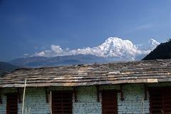 Νότος και Hiunchuli Γ Annapurna Στοκ Φωτογραφίες