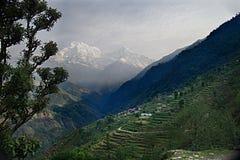 Νότος και Hiunchuli Δ Annapurna Στοκ Φωτογραφίες