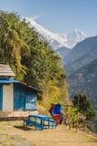 Νότος και Hiunchuli Annapurna Στοκ Φωτογραφία