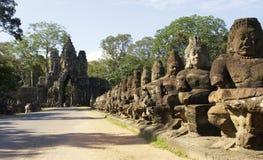 νότος πυλών angkor thom στοκ φωτογραφία