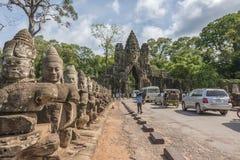 νότος πυλών angkor thom Στοκ Εικόνα