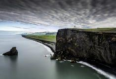 νότος της Ισλανδίας ακτών Στοκ φωτογραφίες με δικαίωμα ελεύθερης χρήσης