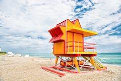 νότος της Φλώριδας Μαϊάμι πα Σπίτι Lifeguard Στοκ Φωτογραφία