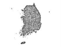 νότος χαρτών της Κορέας Στοκ Φωτογραφία