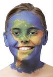 νότος χρωμάτων προσώπου τη&sig Στοκ φωτογραφία με δικαίωμα ελεύθερης χρήσης