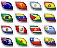 νότος 2 σημαιών της Αμερική&sigmaf διανυσματική απεικόνιση