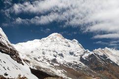 Νότος Annapurna από το στρατόπεδο βάσεων Annapurna υποστηριγμάτων, Νεπάλ Στοκ Εικόνα