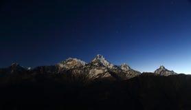 Νότος Annapurna από Tadopani Νεπάλ Στοκ Εικόνα