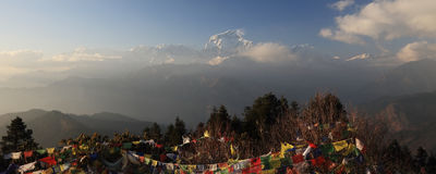 Νότος Annapurna από Tadopani Νεπάλ Στοκ Εικόνες