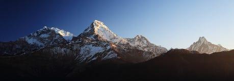 Νότος Annapurna από Tadopani Νεπάλ Στοκ Φωτογραφία