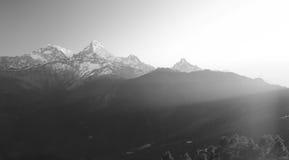 Νότος Annapurna από Tadopani Νεπάλ Στοκ εικόνα με δικαίωμα ελεύθερης χρήσης