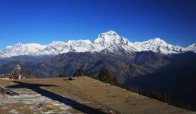 Νότος Annapurna από Tadopani Νεπάλ Στοκ φωτογραφία με δικαίωμα ελεύθερης χρήσης