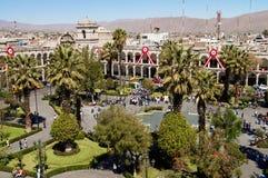 νότος plaza armas de Περού arequipa της Αμερ&iota Στοκ Εικόνες