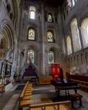 Νότος Transept Α αβαείων Romsey Στοκ φωτογραφία με δικαίωμα ελεύθερης χρήσης