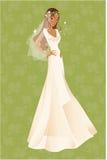 νύφη αφροαμερικάνων Στοκ φωτογραφία με δικαίωμα ελεύθερης χρήσης