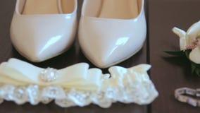 Νύφη γαμήλιων εξαρτημάτων απόθεμα βίντεο