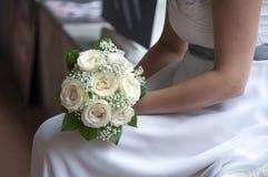 Νύφη και ανθοδέσμη Στοκ Εικόνα