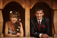 Νύφη και νεόνυμφος στο γάμο στοκ εικόνες