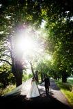 Νύφη και νεόνυμφος Στοκ Φωτογραφίες
