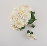 Νύφη και νεόνυμφος Floral Στοκ εικόνες με δικαίωμα ελεύθερης χρήσης
