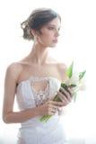 Νύφη με την ανθοδέσμη Στοκ Εικόνες