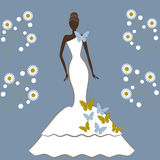 Νύφη με την πεταλούδα Στοκ φωτογραφία με δικαίωμα ελεύθερης χρήσης