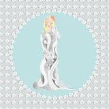 Νύφη με το bouquiet Στοκ Εικόνα