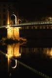 Νύφη πέρα από τον ποταμό στην πόλη της Λυών Στοκ Φωτογραφία