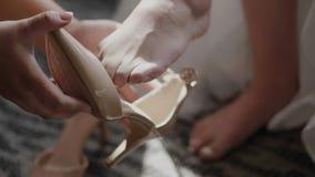 νύφη που παίρνει έτοιμη απόθεμα βίντεο