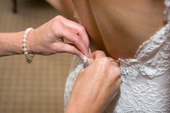 νύφη που παίρνει έτοιμη Στοκ Εικόνα