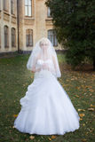 Νύφη που περπατά στη ημέρα γάμου Στοκ Εικόνα