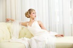 Νύφη στην έδρα στοκ εικόνα