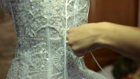 Νύφη στον κορσέ απόθεμα βίντεο