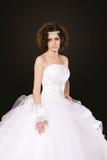Νύφη στο άσπρο φόρεμα Στοκ φωτογραφία με δικαίωμα ελεύθερης χρήσης