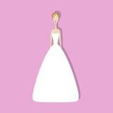 Νύφη στο φόρεμα Στοκ Φωτογραφία