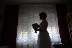 Νύφη στο black&white Στοκ φωτογραφία με δικαίωμα ελεύθερης χρήσης
