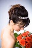 Νύφη hairstyle στοκ φωτογραφία