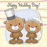 Νύφη Teddy και νεόνυμφος Teddy διανυσματική απεικόνιση