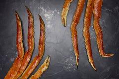 Νύχι καβουριών βασιλιάδων στο μαύρο υπόβαθρο στοκ φωτογραφία με δικαίωμα ελεύθερης χρήσης