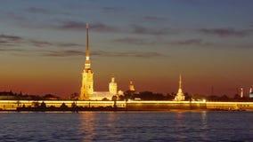 Νύχτα Άγιος Πετρούπολη #2 απόθεμα βίντεο